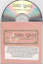 Blonde Redhead - Elephant Woman - Scarce 3 track promo CD (4AD)