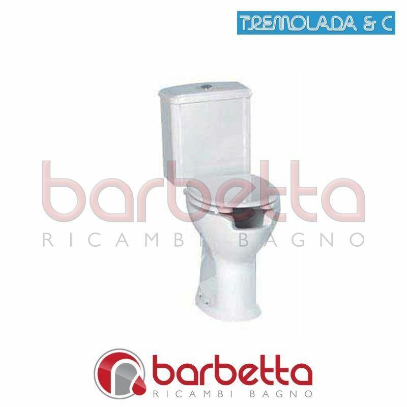 WC IN VITREUS CON CASSETTA MONOBLOCCO E SCARICO A PARETE RICAMBIO TREMOLADA 7900