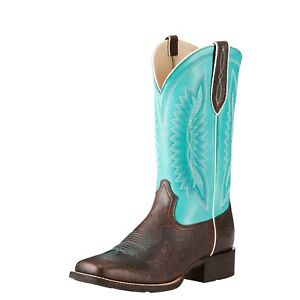 77d7751c6c3 Details about ARIAT - Women's Quickdraw Legacy - Brown Rowdy Croc Print /  Turq - 10023141 -NEW