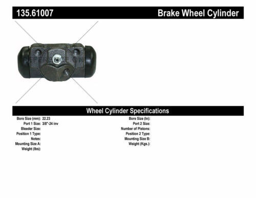 Drum Brake Wheel Cylinder-Front Disc Rear Right Centric 135.61007