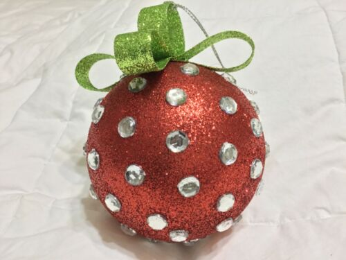 KATHERINES COLLECTION JEWELED POLKA-DOTTED CHRISTMAS//EVERYDAY ORNAMENT