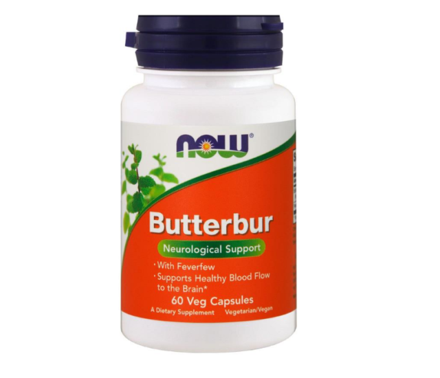 NEW NOW FOODS BUTTERBUR NEUROLOGICAL SUPPLEMENT DIETARY HEALTHY DAILY SUPPORT
