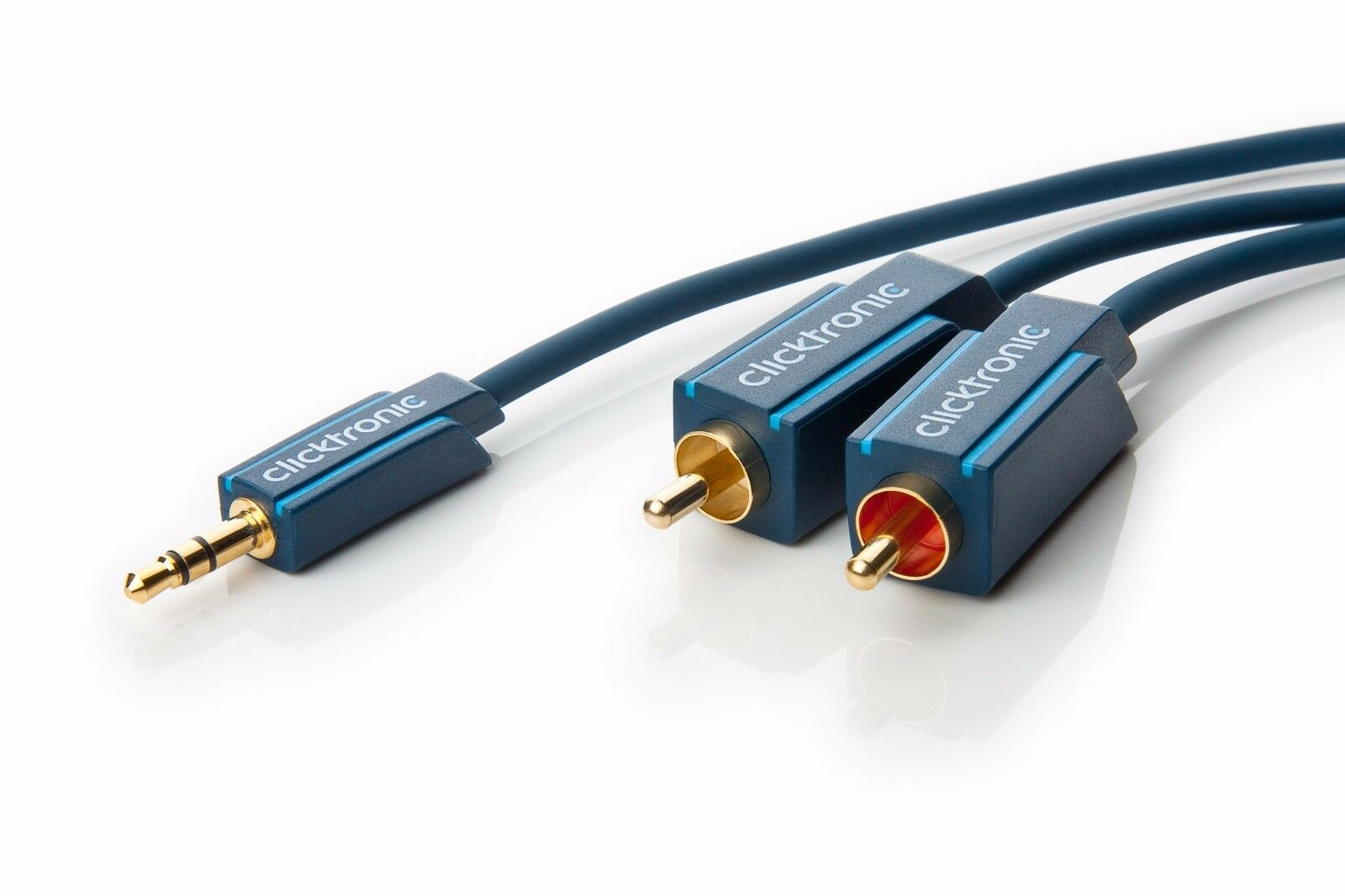10,00m Clicktronic Casual MP3 Jack 3,5mm/2x Cinch Cable Phono Rca 10,0m 10m