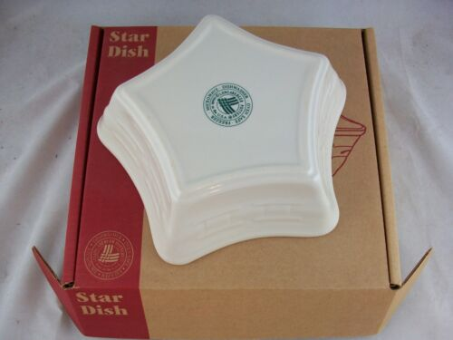 Longaberger Pottery Star Dish Ivory White NIB USA