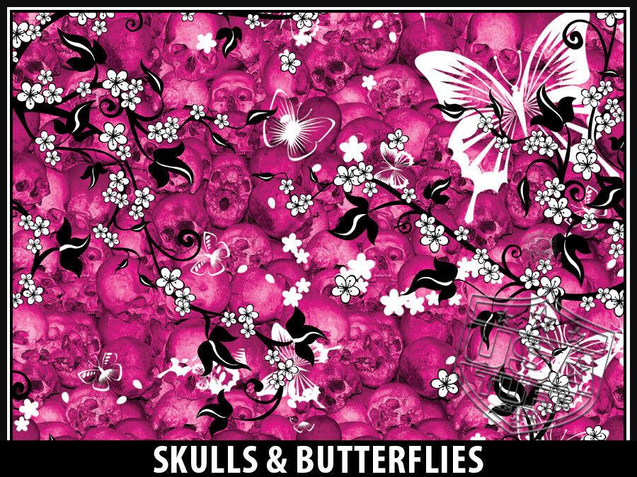 USATuff USATuff USATuff Custom Cooler Wrap fits YETI Tundra 125qt L+I Skulls & Butterfly Pnk 416da2