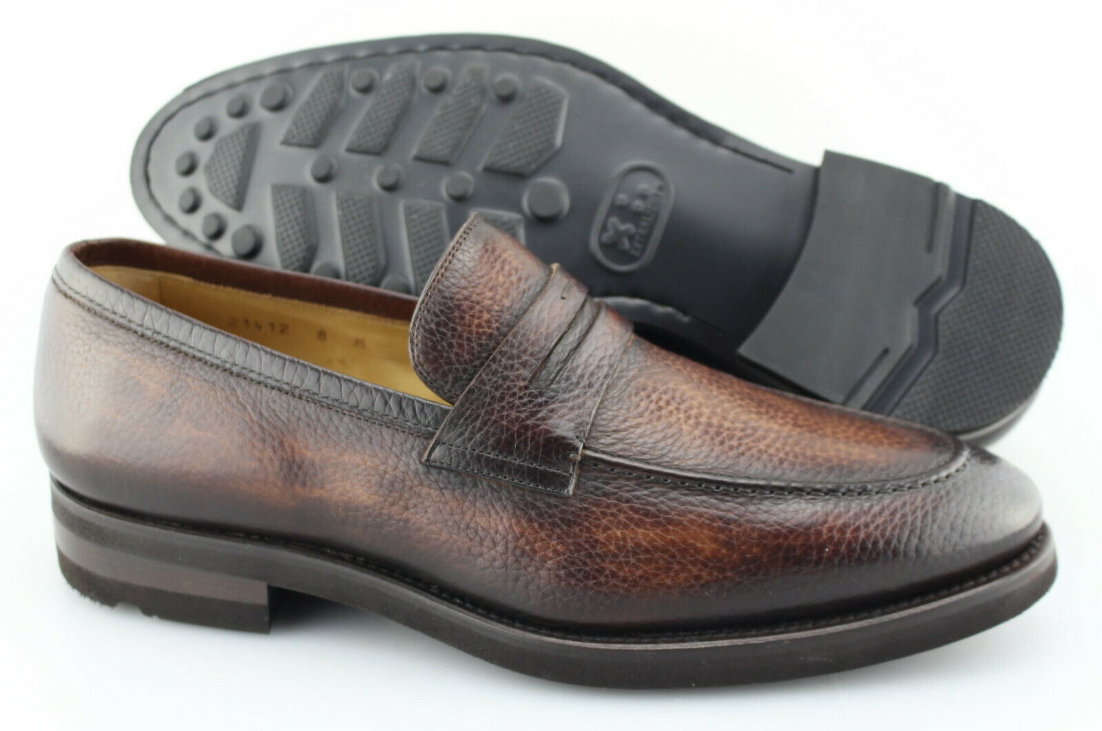 Men's MAGNANNI 'Matlin' Marroneee Leather Penny Loafers Dimensione US 8 - D