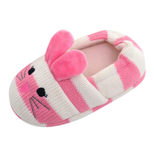 Toddler Infant Kids Baby Warm Shoes Boy Girls Cartoon Soft-Soled Casual Slippers