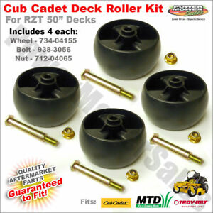 Details about 734-04155 - Deck wheel kit for Cub Cadet RZT 50 - Includes 4  wheels & hardware