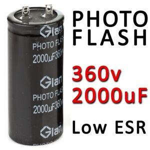2000uF-360v-Capacitor-PHOTO-Flash-Pulse-Strobe-Low-ESR-Photoflash-Foto-330v