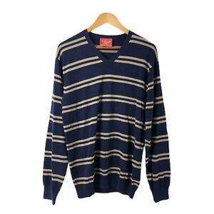 RM-WILLIAMS-Men-039-s-Striped-Pullover-Jumper-Size-M-Long-Sleeve-100-Cotton