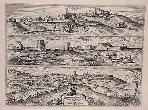 Antique map, Palacios / Alcanerilla / Cabecas