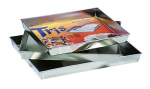 Tris Teglie Rettangolari Forno Pizza CM. 28X32 / 30X36 / 32X40