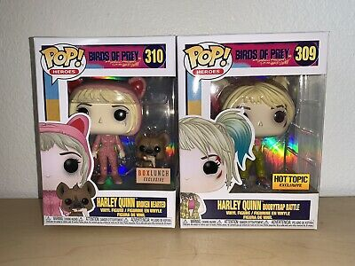 Funko Pop Harley Quinn Boxlunch Hot Topic Exclusives Birds Of Prey Protectors Ebay