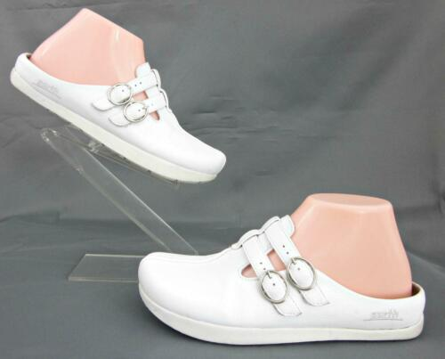 Kalso Earth 'Dharma' Slide Clogs White Leather US
