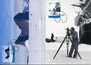 Norway-2019-MAXI-Antarctica-Polar-Exploration-2v-Set-Cards-Boats-Ships-Stamps