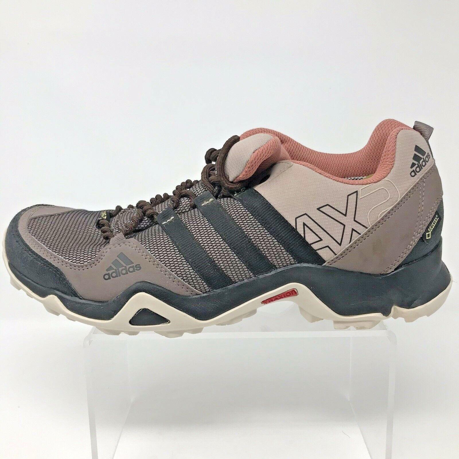 Adidas AX2 Womens 9.5 Goretex Hiking shoes AQ3961 Brown Pink