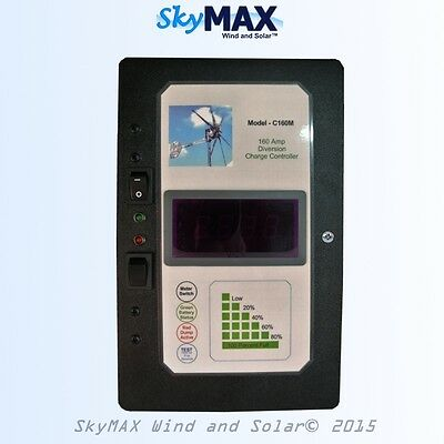 160 amp 3600 watt Charge Controller 12 or 24 volt for wind turbine solar panel