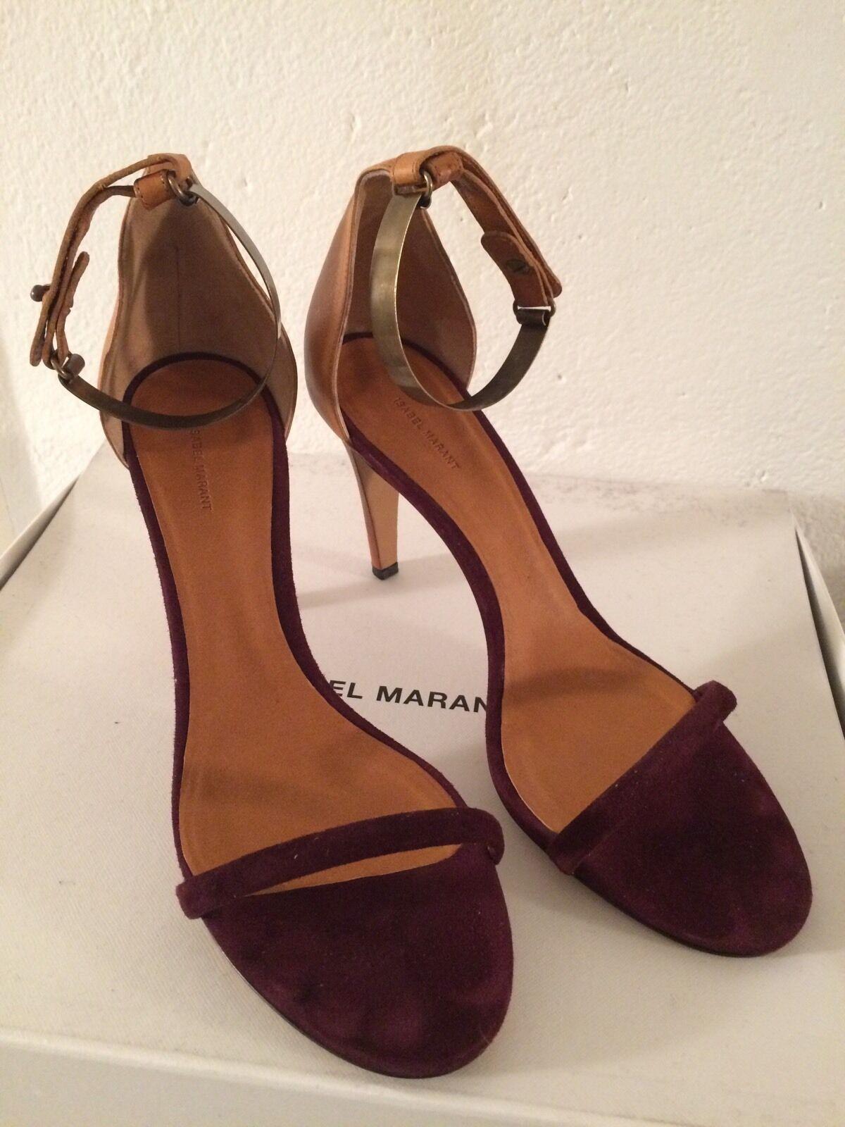 Isabel Marant Marant Marant Sandals, Burgundy , Dimensione 40 5e30cd