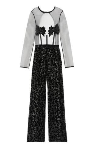 Pants Black Very Velvet Open Back Jumpsuit Secret Sexy Victoria's Sheer Romper SMVzqUGp