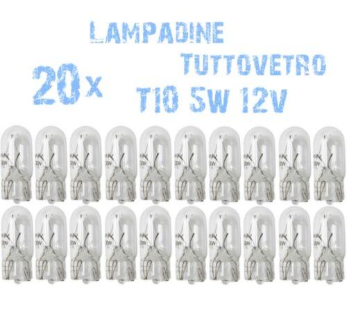N° 20 Lampadine T10 Tuttovetro 5W 12V W5W Ricambi Luci Fanali Moto e Scooter 2C6