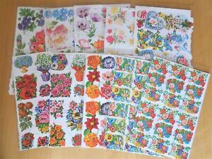 Mamelok 2 Sheets Embossed /& Die Cut Reliefs Scrap Book Decoupage Floral Stickers