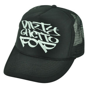 Dirty Ghetto Pop Graffiti Humor Funny Black Mesh Trucker Foam Snapback Hat Cap