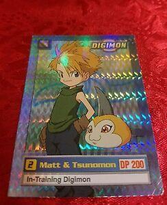 Bandai Digimon Trading Card 5 of 34 Matt & Tsunomon Holo