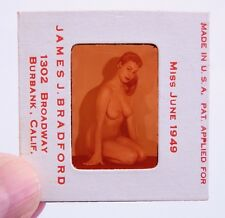 1949 Vintage Nude 35mm Transparency Slide Busty Pinup Photo by James Bradford