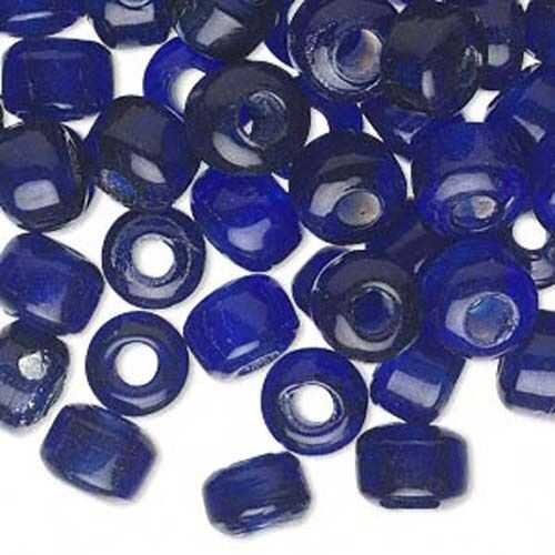 4mm Hole 20 Glass 9mm x 7mm Crow Pony Barrel Shaped Loose Beads with Big 3mm