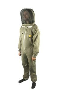 Bee Keeper Suit Beekeeping Veil Hood Jacket Outfit Hat Sting Full Body Cotton