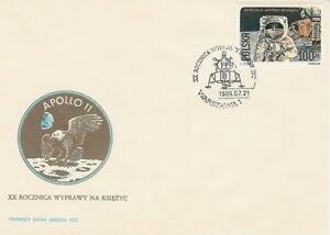 Poland FDC (Mi. 3206) Moonlanding #1 - Bystra Slaska, Polska - Poland FDC (Mi. 3206) Moonlanding #1 - Bystra Slaska, Polska