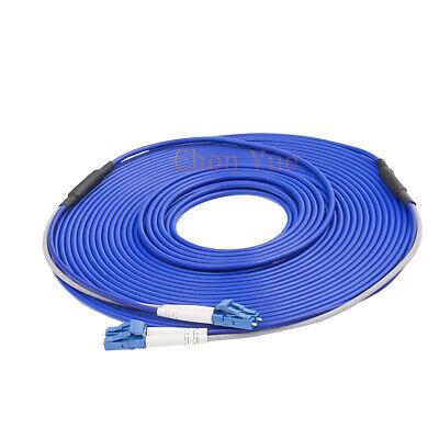 10M Black Armored Fiber Cable LC-LC UPC SM 9//125 Duplex Fiber Optic Patch Cord