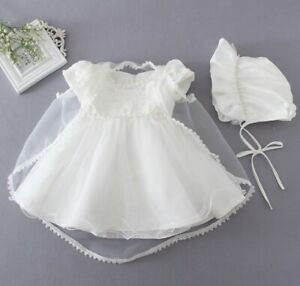 Baby-Girls-Christening-Gown-Baptism-Dress-White-Lace-Baby-Dress-with-Bonnet