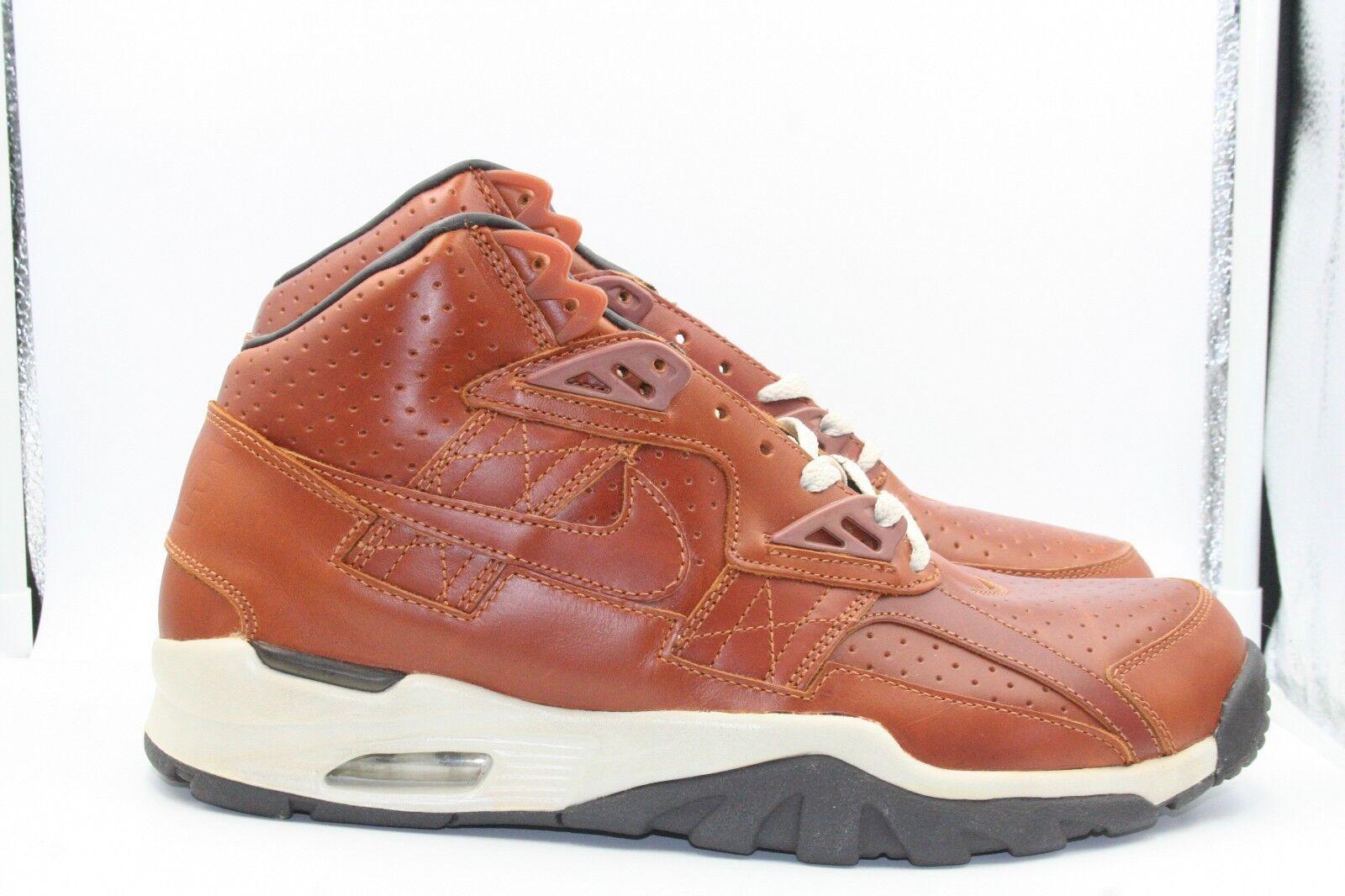 Nike Air Trainer SC Premium + High Sz 11 Medium Curry Dark Brown Net Bo Jackson