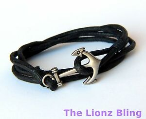 Image Is Loading Urban Vintage Braided Black Rope Bracelet W Antiqued