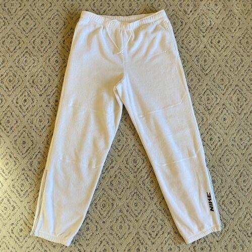 VIntage Nike White Fleece SweatPants Mens Sz XL