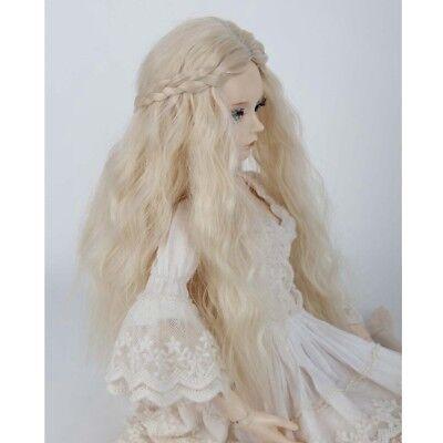 "1//4 bjd 7-8/"" doll head carrot red braid long wig dollfie Luts Iplehouse JD204SM8"