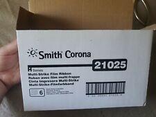 Smith Corona 21025 Typewriter Ribbon Black 6 Pack New In Original Box