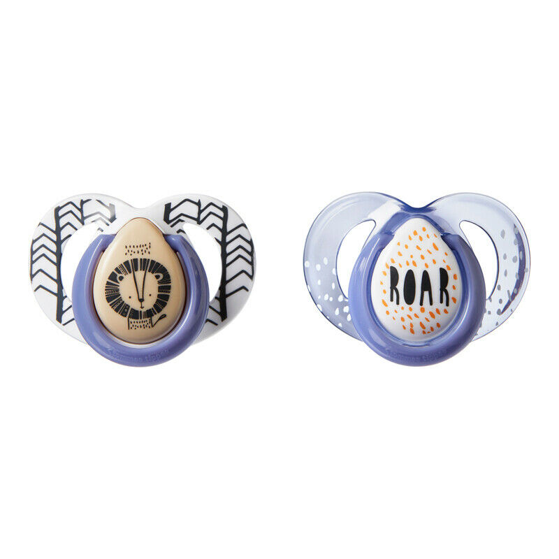 Tommee Tippee Closer to Nature Moda Soother|Orthodontic Shape|6-18m|2Pk