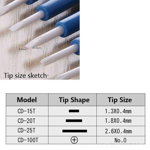 DIY ajuster tournevis antistatique plastique portable en céramique réparatio LTA
