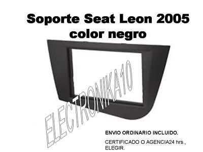 Soporte Marco Montaje Radio-Coche 2Din Seat Leon II 2005/>2010 LIGHT SILVER