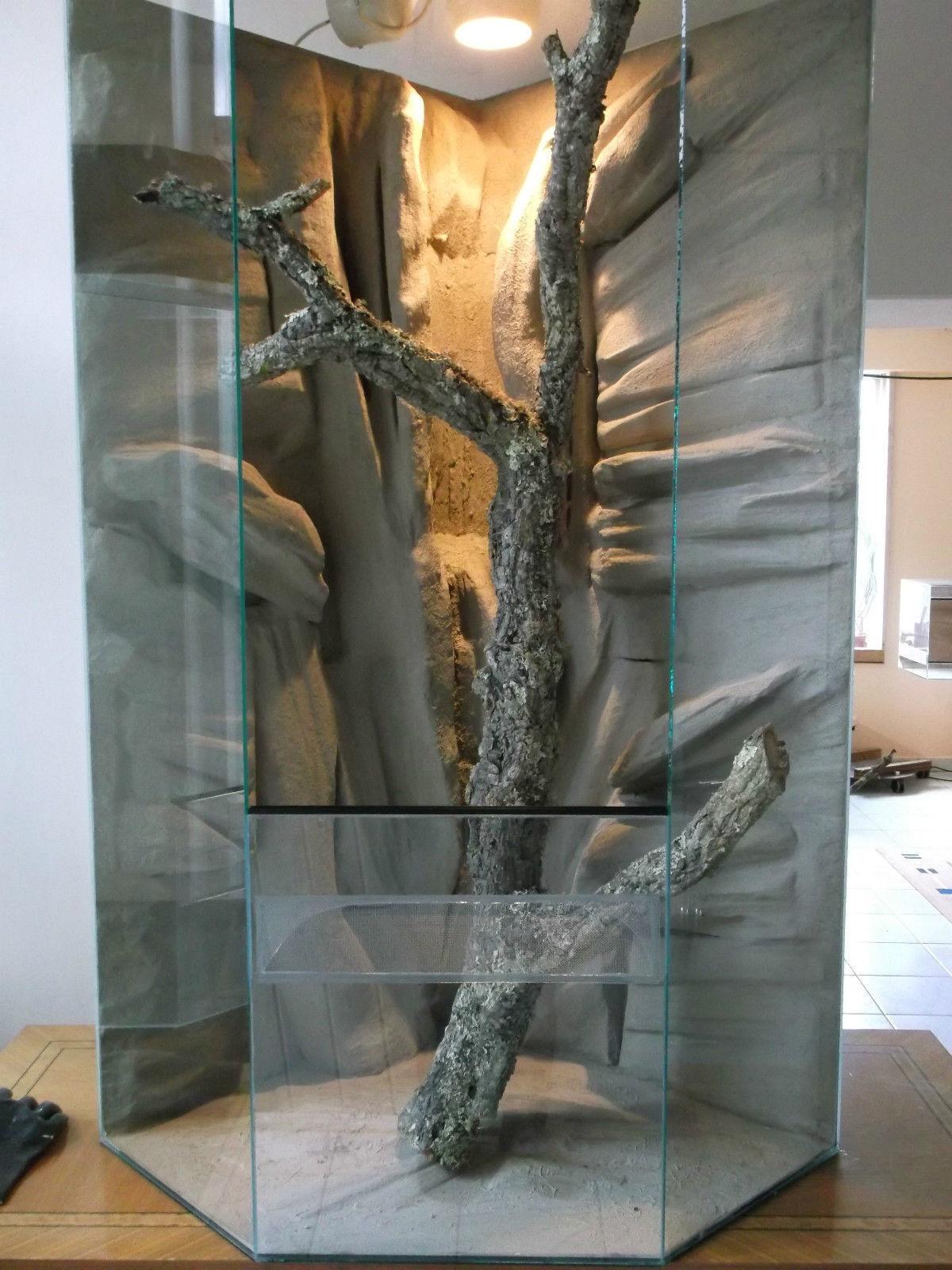 Riesen Glas Terrarium Delta 80x80x200 Paludarium Wasserfall Chamäleon Agame