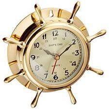 Deco 79 Clock 7-Inch Brass New