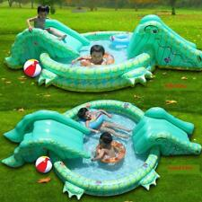 duplay crocodile double water slide and paddling pool ebay
