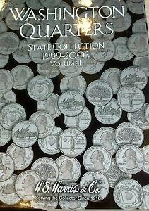 Washington Quarters State Collection 1999-2003 Vol 1 HE Harris Album Folder 2580