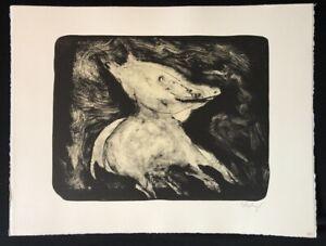 Thomas-Wachweger-Einmal-kein-Schwein-sein-Lithographie-1994-handsigniert