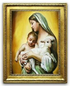 Religion-Mary-Handmade-Oil-Painting-Picture-Oil-Frame-Pictures-G95320