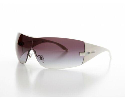 100/% AUTHENTIC VE 2054 1000//8G White Grey Gradient VE2054 Versace Sunglasses