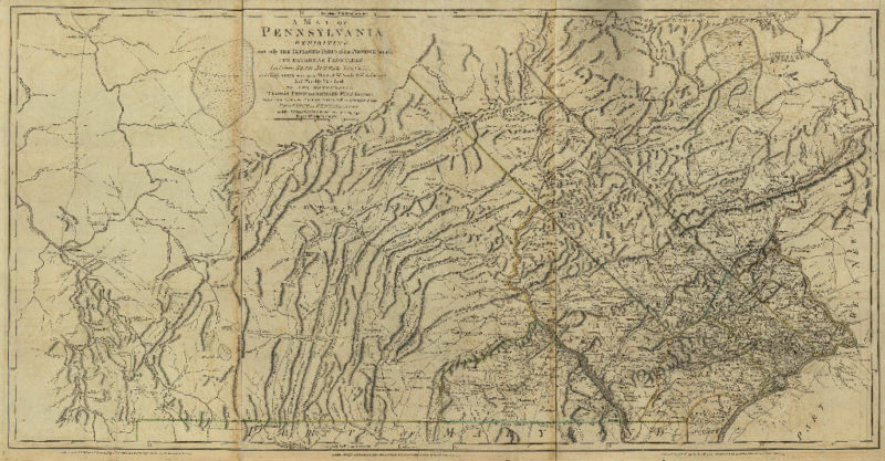 1770 PA MAP Linglestown Lewisburg Lionville Marchwood PENNSYLVANIA HISTORY huge