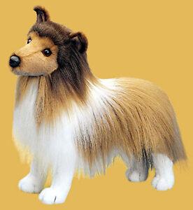 "PLUSH Dixie Sheltie STUFFED DOG 18"" Stuffed puppy Dog tan white NEW 295"